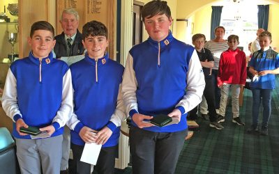 Junior event at Dumfries and County Golf Club